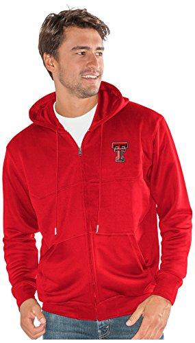 (G-III Sports NCAA Texas Tech Red Raiders Men's Cadence Full Zip Sweatshirt, Red, XX-Large)