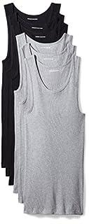 Amazon Essentials Men's 6-Pack Tank Undershirts, Black/Heather Grey, Large (B06XWLXMM4) | Amazon Products