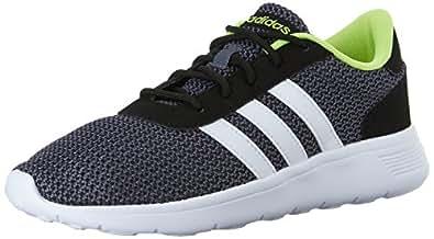 adidas NEO Men's Lite Racer Lifestyle Runner Sneaker,Black/White,8 M US