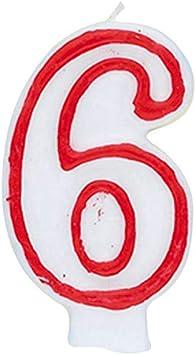 360-0 Vela de cumplea/ños n/úmero 0 Unique Party