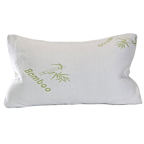 HIPPIH Queen Bamboo Pillow - Hypoallergenic and Dust Mite Re