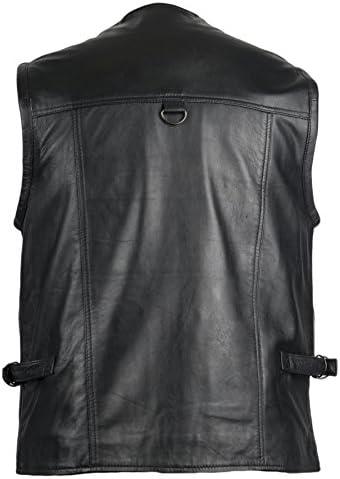 Hommes Veste en cuir Basic Veste Nappaleder Noir