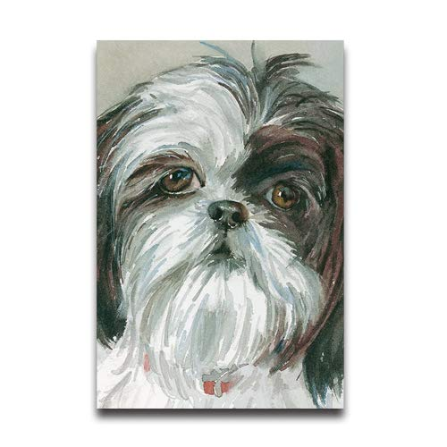 Du Art Gifts Watercolor Painting of Shih Tzu Dogs Custom Poster Personal Photos Print on Photographic Paper Ready to Hang on Your Wall as a Modern Art 20