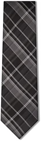 Origin Ties Men's Fashion Tartan Plaid Skinny Silk Tie 3'' Necktie