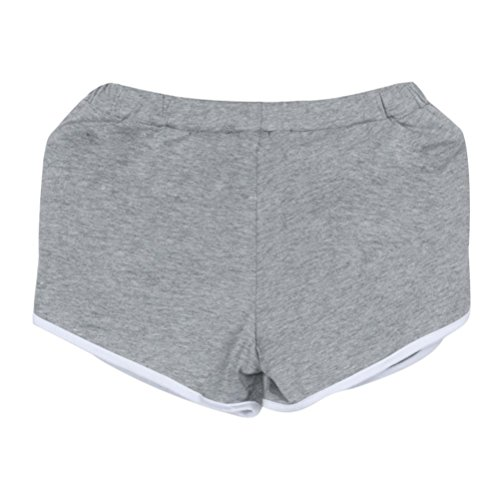 Amlaiworld Shorts donna Nuova Pants Grigio Hot Skinny Sportivi Breve Estate Yoga XEtqrXcw