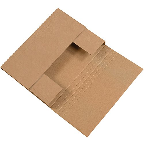 "Aviditi M2BKK Corrugated Easy-Fold Mailer, 12-1/8"" Length x 9-1/8"" Width x 2"" Height, Kraft (Bundle of 50)"