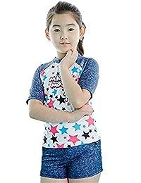 Big Girls Kids Toddler 3 Piece Star Print Swimsuit Swimwear Beach Wear