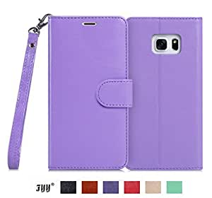 Galaxy S6 Edge Plus Case, Galaxy S6 Edge+ Case, Fyy [Top-Notch Series] Premium PU Leather Case All-Powerful Cover for Samsung Galaxy S6 Edge Plus Lavender by FYY