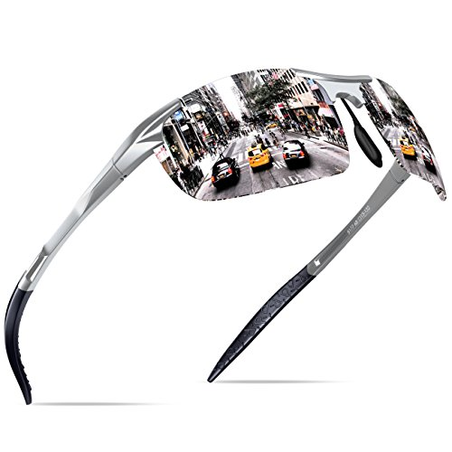 Plateado Marco Metal Deportes Hombre Súper Gafas De Polarized Ligero De Mg Sol KITHDIA Al Oa6Uqwx