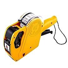 LIOOBO Price Gun Pricing Label Gun Price Tag Marker Gun for Home Office Small Business Market Yellow