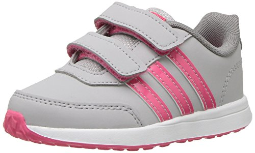 (adidas Kids' VS Switch 2 Sneaker, Grey Two Fabric, Real Pink s, Grey Three Fabric, 8.5K M US Toddler)