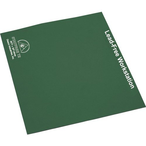 Desco 66121 Lead-Free Workstation Rubber Table Mat Roll, Green, 30'' x 24' by Desco