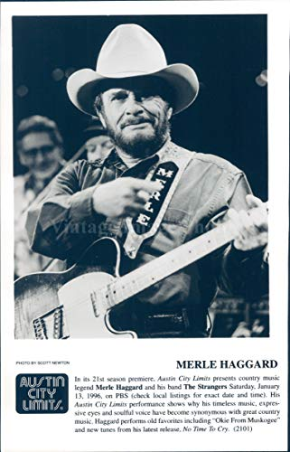 Vintage Photos 1996 Photo Merle Haggard Austin City Limits Country Music Legend Man 5x8