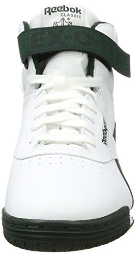 a Clean Sneaker Fit Alto Forest White Collo Dark Ex Reebok Bianco Uomo o S Hi nxHqTp0Cw