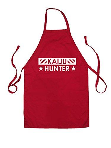 dressdown-kaiju-hunter-kids-unisex-fit-apron-red-3-6yrs