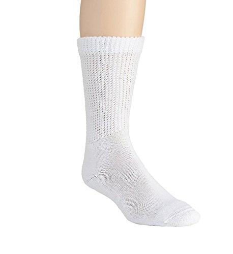 8435551PKEA - Salk Company HealthDri Acrylic Diabetic Sock Size 9 - 11, White