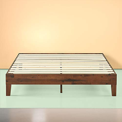 Zinus Marissa 12 Inch Deluxe Wood Platform Bed / No Box Spring Needed / Wood Slat Support / Antique Espresso Finish, Full