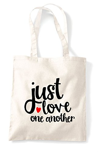 Just Statement Love Tote One Natural Shopper Another Bag 8r8wOn7tq