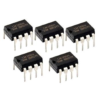 Potencia de Amplificador 5 x LM386N audio 8 pines DIP IC ...