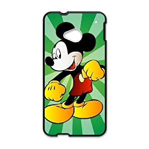 HTC One M7 phone case Black Mickey Mouse QWE7507785