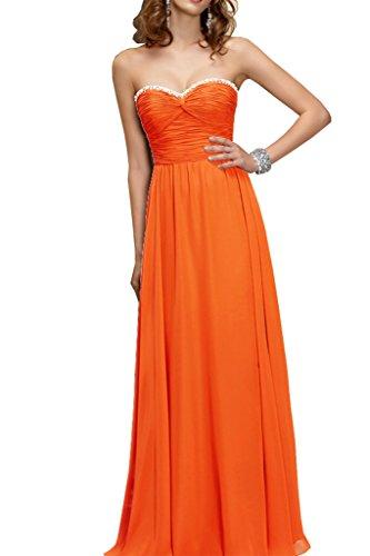 Lang Braut Partykleider Orange Brautjungfernkleider Schnuerung Einfach Damen Promkleider Marie Schwarz Abendkleider La vY5xw