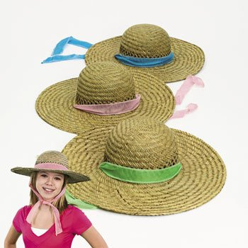 Straw Hats Solid Band hats