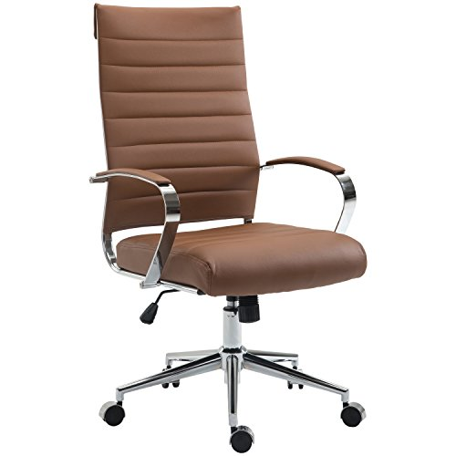 Poly and Bark Tremaine High Back Management Chair in Vegan Leather, Terracotta