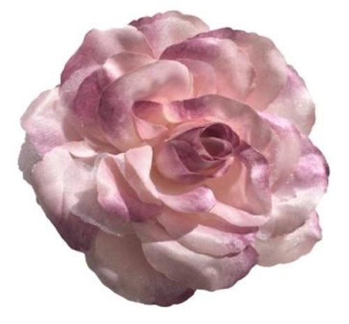 Cuteque International CQA106-DUSTY ROSE 3-Piece Packed Satin Organza Rose Embellishment, 4-Inch, Dusty - Wedding Flower Organza Rose