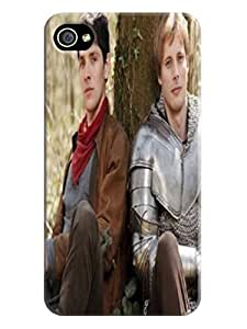 Durable fashionable New Style Merlin TPU Phone Protection Case/cover Designed for iphone 4/4s