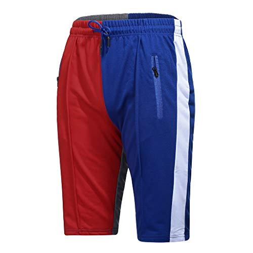 (Men's Sport Elastic Shorts, Mmnote Drawstring Simple Stretch Lightweight Various Sweatpant Shorts,Red)