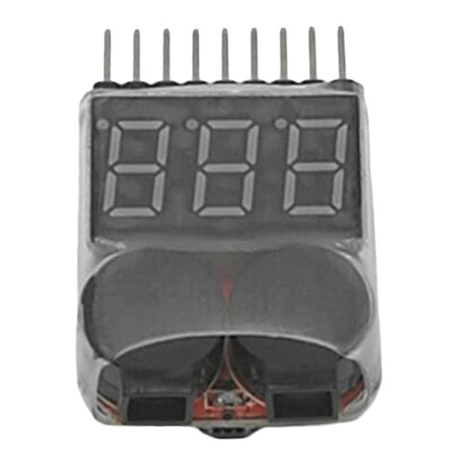 MonkeyJack 3.7-30V 1-8S Lipo Battery Low Voltage Buzzer Alarm 2 in 1 Tester LED for RC Car Parts