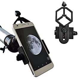 Solomark Universal Cell Phone Adapter Mount – Compatible with Binocular Monocular Spotting Scope Telescope and…