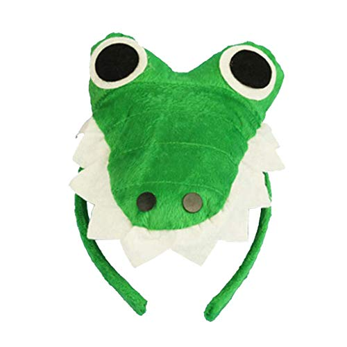 Animal Headband Plush Party Headpiece Hair Hoop Party Cosplay Costume Props - Crocodile -