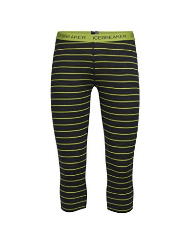 Icebreaker Merino Women's Oasis Legless Stripe - Jet Heather/Cactus X-Small [並行輸入品]   B07DVZWHYV