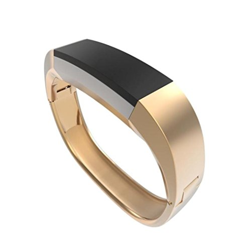 Price comparison product image For Fitbit Alta HR, Outsta Stainless Steel Accessory Bangle Watch Band Wrist strap (Gold)