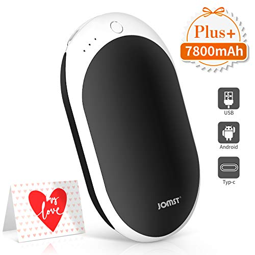 Jomst New 7800mAh Rechargeable Hand Warmers Portable Electric Power Bank