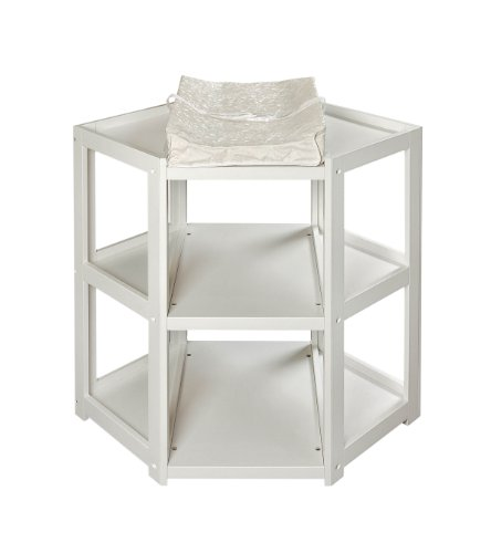 Badger Basket Diaper Corner Baby Changing Table with Contoured Pad