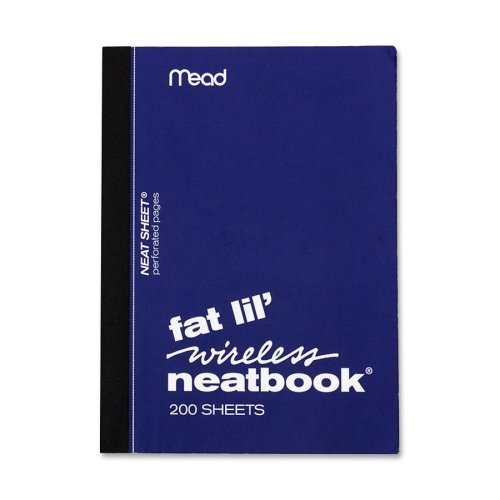 """043100571902 - Mead Fat Lil' Neatbook - 200 Sheet - College Ruled - 4"""" x 5.5"""" - 1 Each - White carousel main 0"""