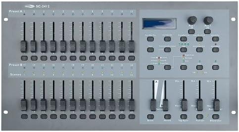 Showtec SC-2412 - Mesa de iluminaci?n DMX (24 canales): Amazon.es ...