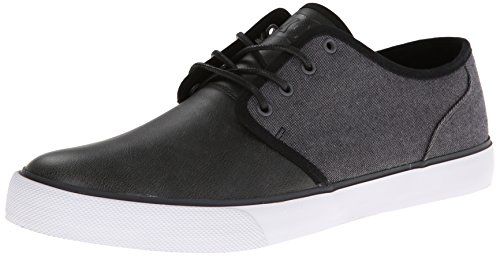 DC Men's Vulcanized Shoe TX Grey Black SE Studio FBrq6xdwF