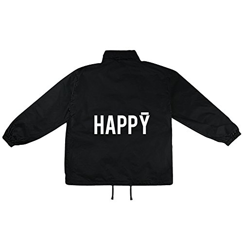 happy Motiv auf Windbreaker, Jacke, Regenjacke, Übergangsjacke, stylisches Modeaccessoire für HERREN, viele Sprüche und Designs