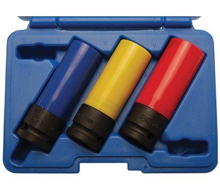 BGS Kraft-Schoneinsatz-Set, 12,5 (1/2) 17, 19 und 21 mm, 1 Stück, 7300