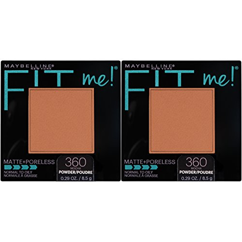 Maybelline New York Fit Me Matte + Poreless Powder Makeup, Mocha, 2 Count - Fit Face