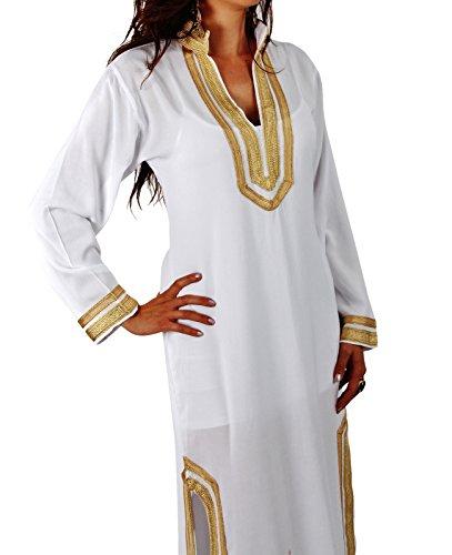 Weiß Strandkleid Resort Kleid Cover up ups Damen Tunika npnSRBwvx