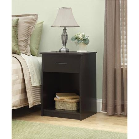 Mainstays Nightstand End Table, Made of composite wood, Cinnamon Cherry