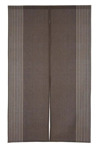 Noren Japanese Doorway Curtain Raku Brown Cotton 85x150cm