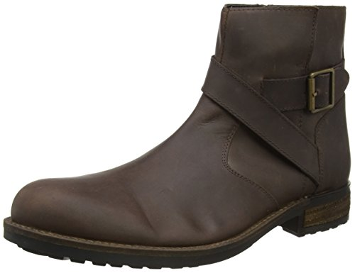 Joe Browns Oiled Leather Boots, Stivaletti Biker Uomo Marrone (Deep Brown A)