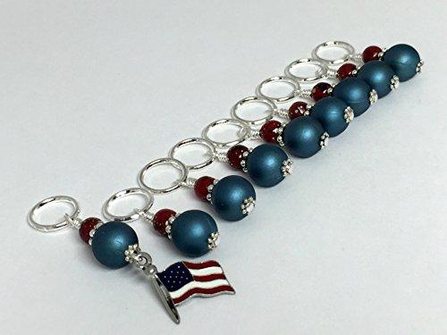 Patriotic Knitting Patterns (American Flag Knitting Stitch Marker Jewelry)