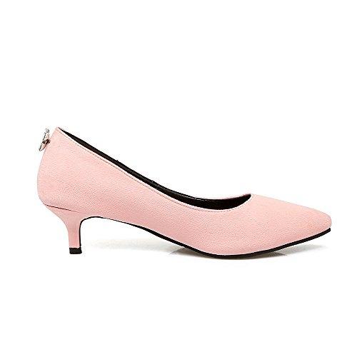 Damen Mittler Rein Ziehen auf Mattglasbirne Spitz Zehe Pumps Schuhe, Grün, 41 VogueZone009