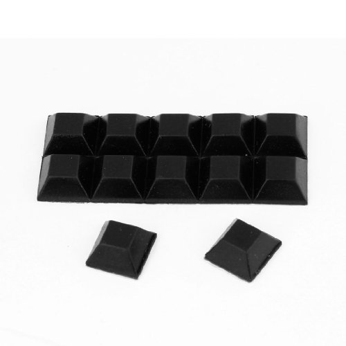 Square Self Adhesive Rubber Pads for Furniture12mmx12mmx6mm